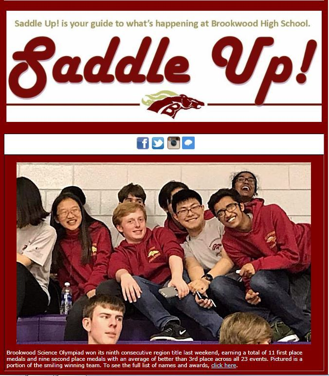Sample of the Saddle Up newsletter