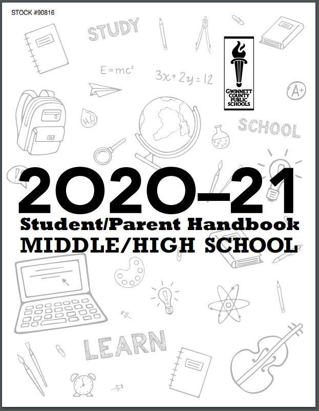 Cover of student-parent handbook 2020-21