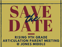 Save the Date for Rising 9th grade parents