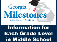 Detailed information about 6, 7, 8 grade level testing for the Georgia Milestone