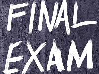 Final Exam Schedule  for Semester 1