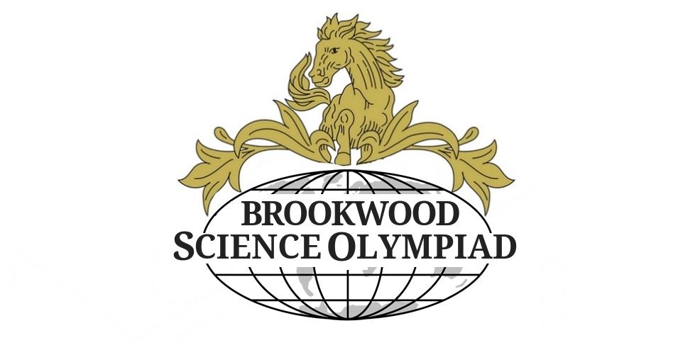 Brookwood bronco on top of Science Olympiad globe logo