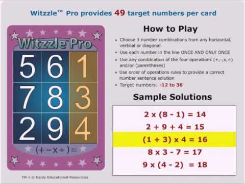 Witzzle Pro Directions