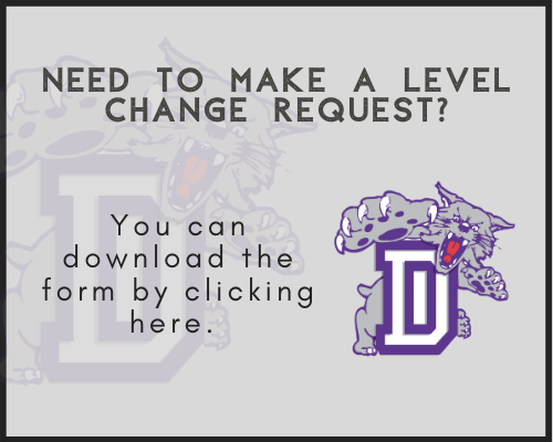Need to make a level change request - click here