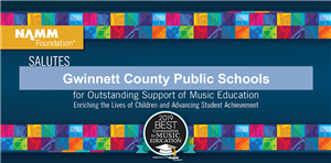 2019 BEST communities for music education award for GCPS