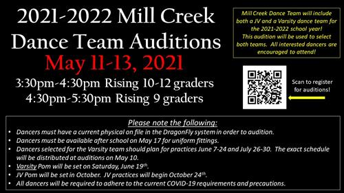 MCHS Dance Team Auditions