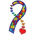 Autism ribbon with puzzle pieces