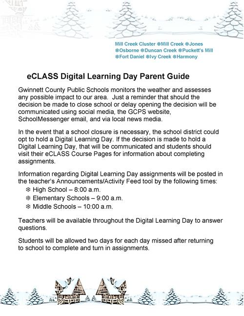 Digital Learning Days info Mill Creek Cluster