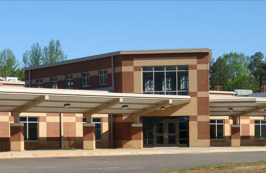 Dyer elementary school building front