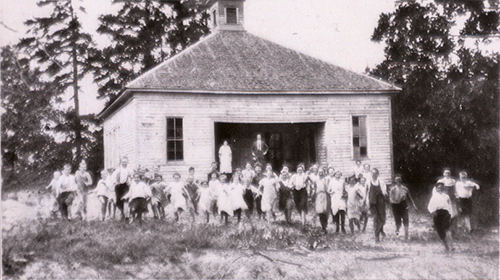 Photo of original Harmony School— 1923 Gwinnett County Public School System history