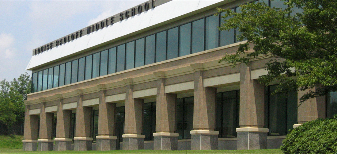 Louise radloff middle school building front