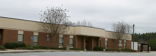 Lanier Middle School its previous location on Buford Highway
