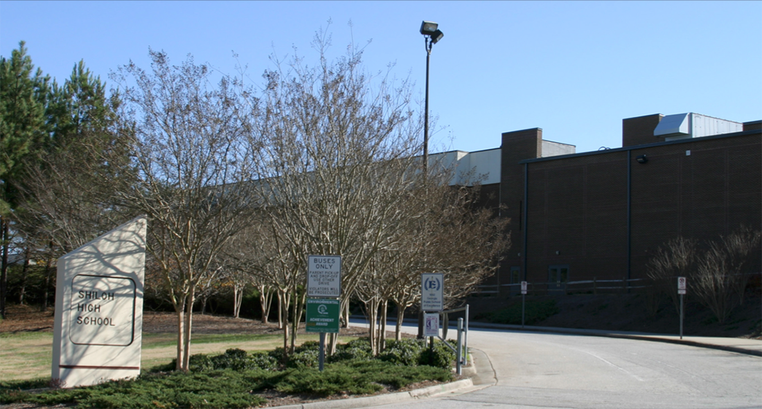 Shiloh high school building front
