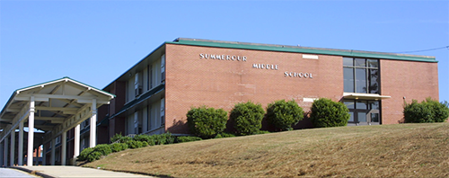 The old Summerour Middle School facility that was located on Mitchell Road.