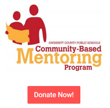 Mentoring logo with donate now text