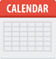 Calendar with red bar and gray day boxes