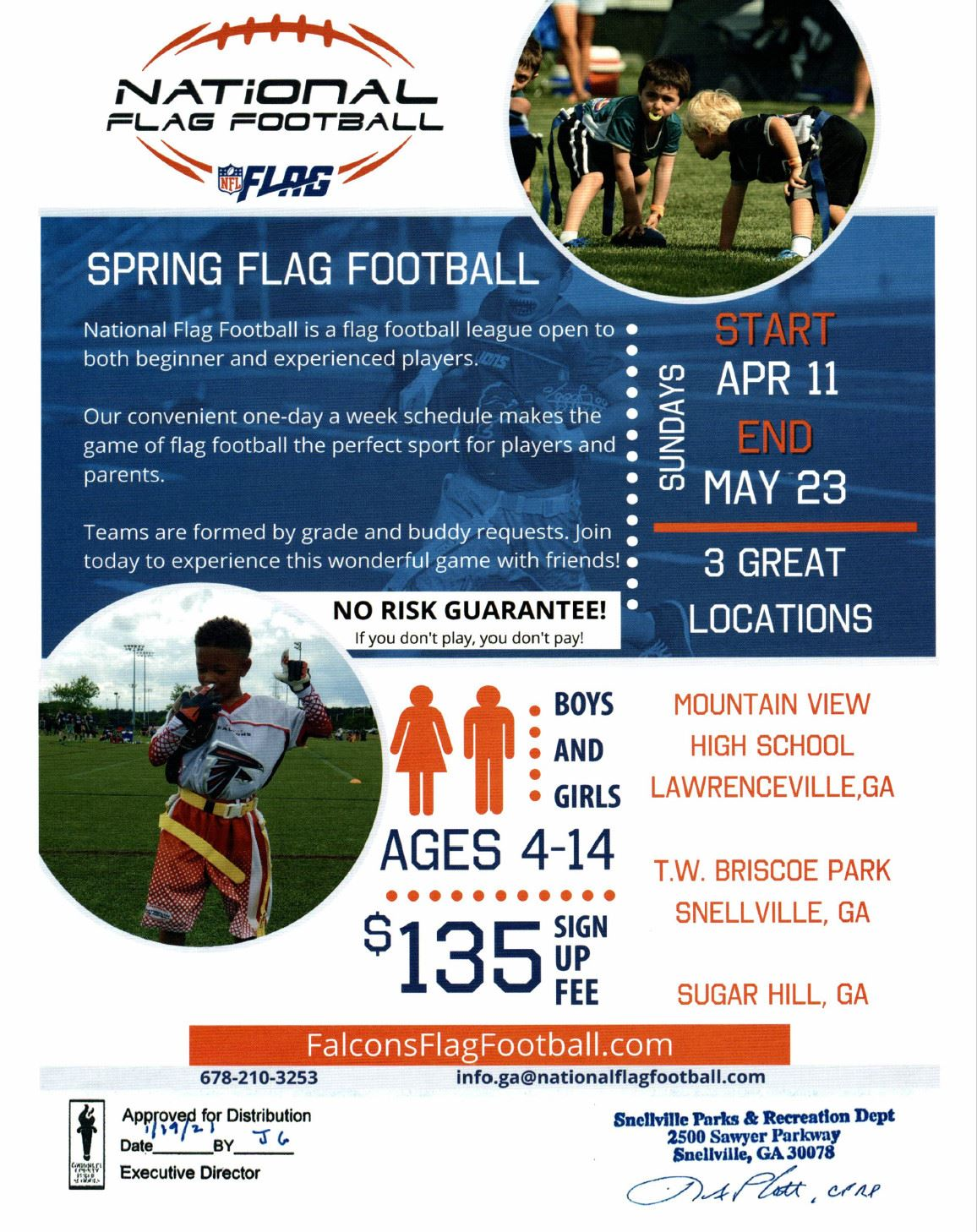 Image for National Flag Football Flyer