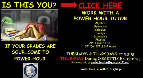 SGHS Power Hour Tutoring
