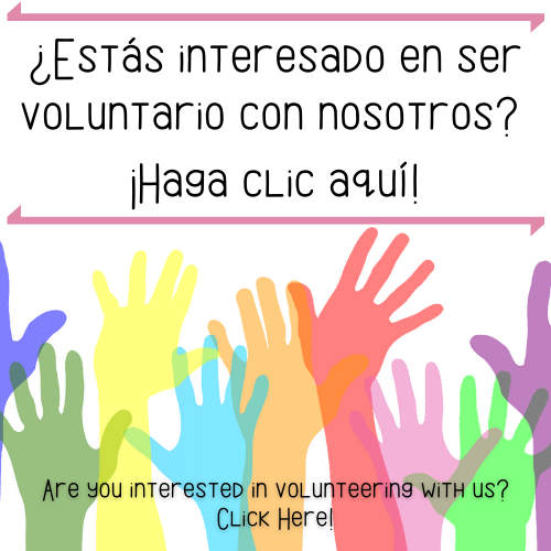 Are you interested in volunteering with us? Click Here!