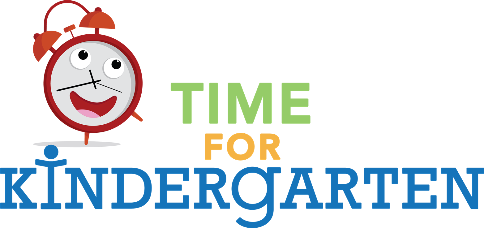 "cartoon clock clip art with the words ""Time for Kindergarten"""