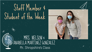 Staff & Student of the Week