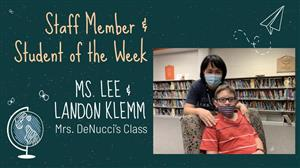 Staff Member and Student of the Week