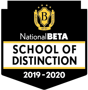 National Beta School of Distinction 2019-2020