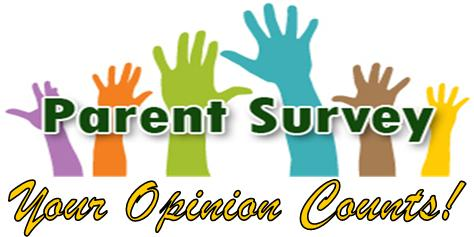 Parent Survey Your Opinion Counts with Hands Raised