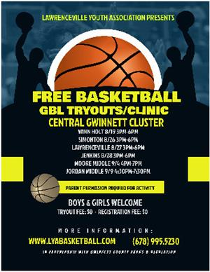 GBL Basketball Tryouts/Clinic