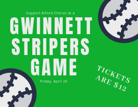 Join us at Gwinnett Stripers game tickets are $12 each with image of baseballs