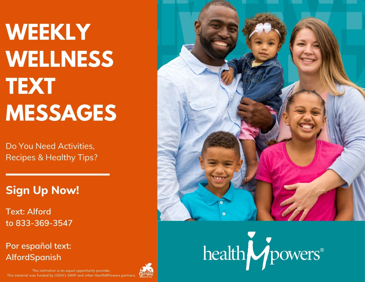 Click for more information on weekly wellness text messages