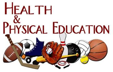 Health and Physical Education with sports images