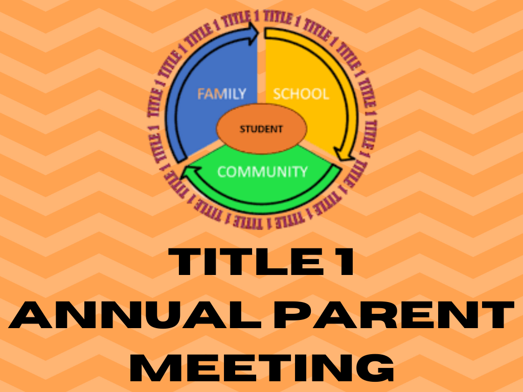 Title I Annual Parent Meeting Information Image