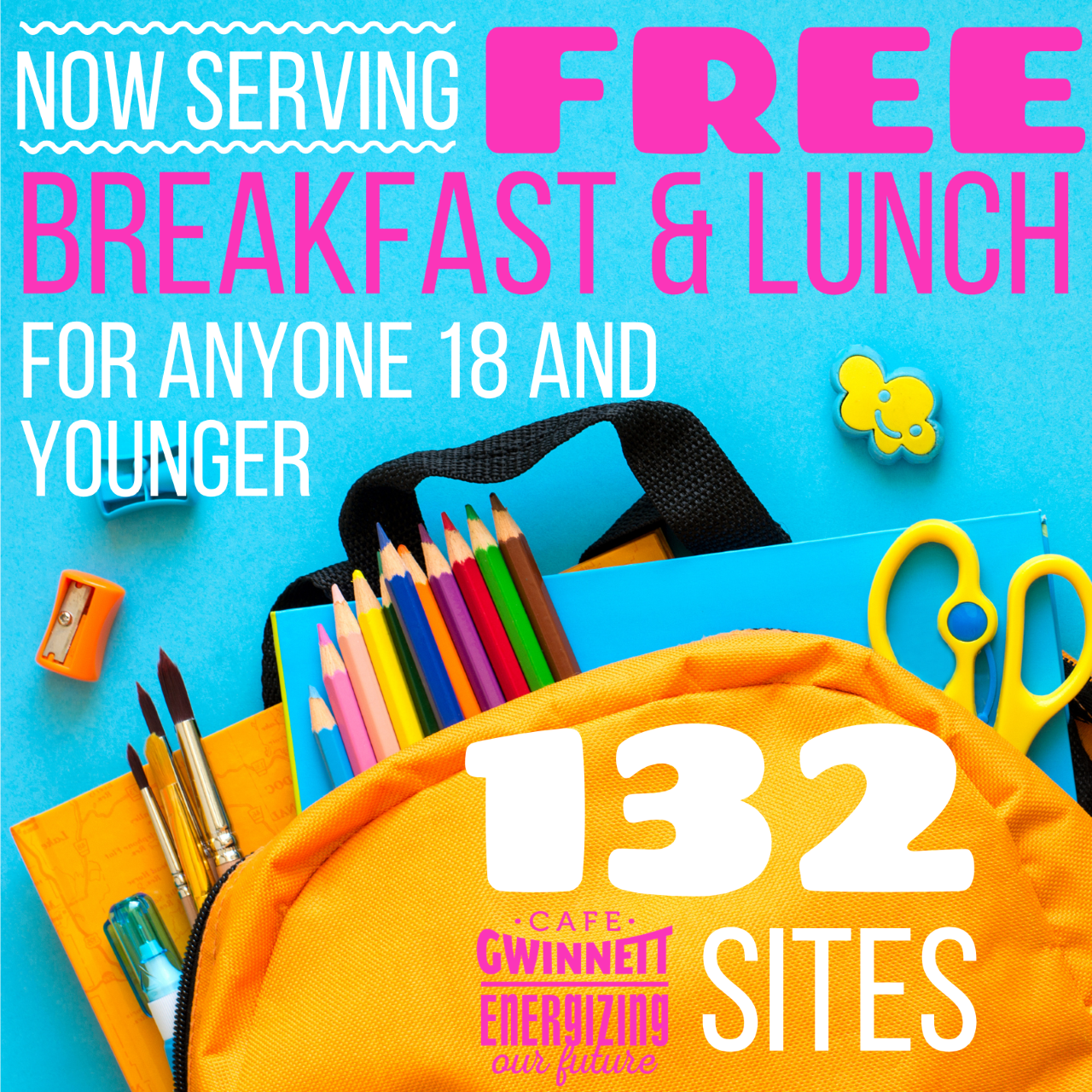 Free Breakfast and Lunch Image