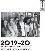 Cover of 2019-2020 Student/Parent Handbook Middle/High School