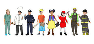 Image of children dressed as difference careers