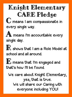 C means compassionate. A means accountable. R shows I'm a role model. E means I'm engaged.