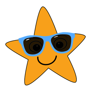 Superstar Club logo- star with glasses