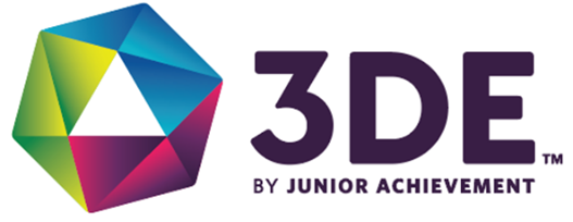 3DE by Junior Achievement Logo