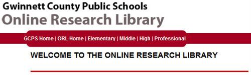 GCPS Online Research Library