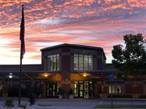 Photo of School at sunrise