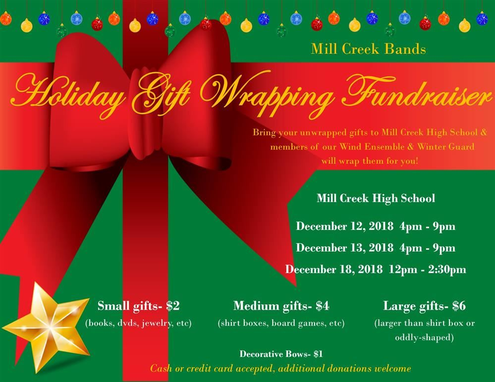 Band Gift Wrapping Fundraiser