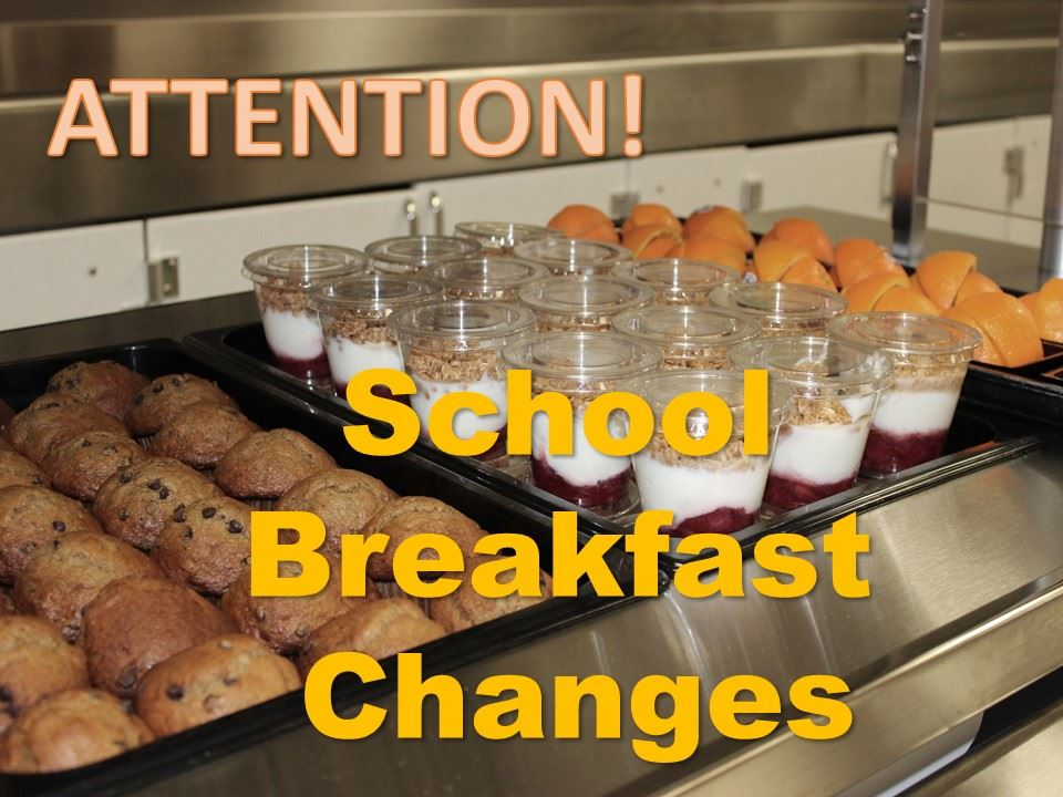 Changes to school breakfast for 2019-2020