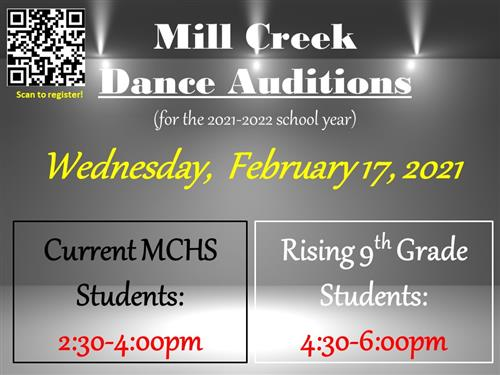 Dance Auditions for 2021-2022