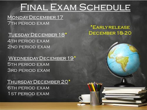 Final Exam Schedule Fall Semester 2018