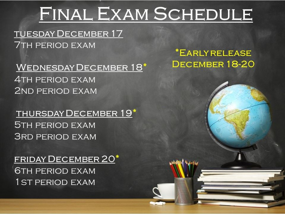 First Semester Final Exams