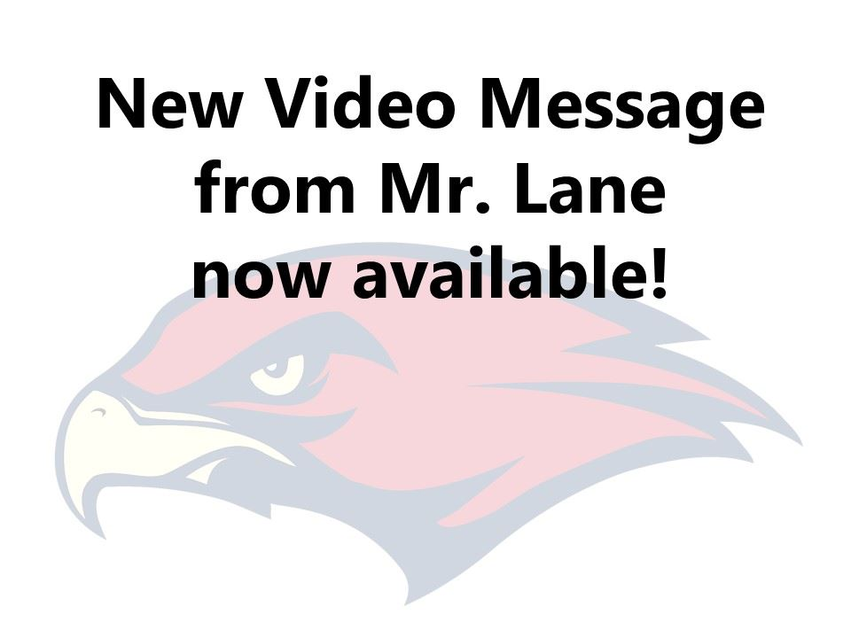 Video Message from Mr. Lane