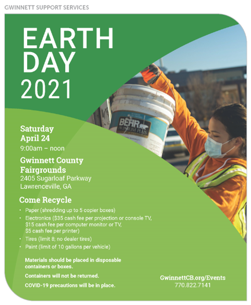 Earth Day Recycling on April 24