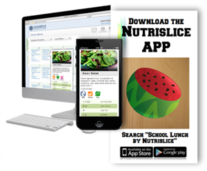 Nutrislice website and app