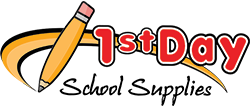 logo for 1st day school supplies
